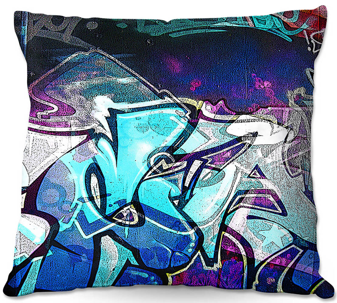 Cute Graffiti print Pillow Spun Polyester Square Pillow 4 size Handmade-Art Printing pieces from our shops