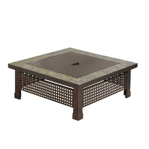Bradford Metal Wood Burning Fire Pit Table