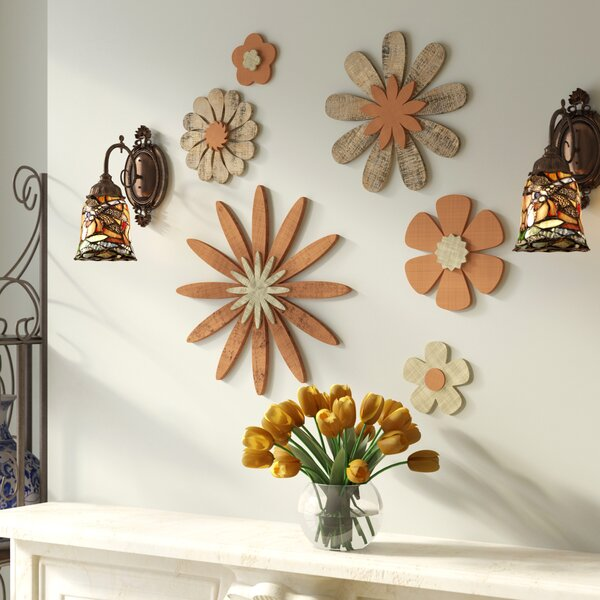 Wooden Flower Wall Decor | Wayfair