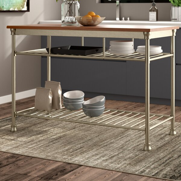 Haleakal Kitchen Island Prep Table Hardwood by Trent Austin Design
