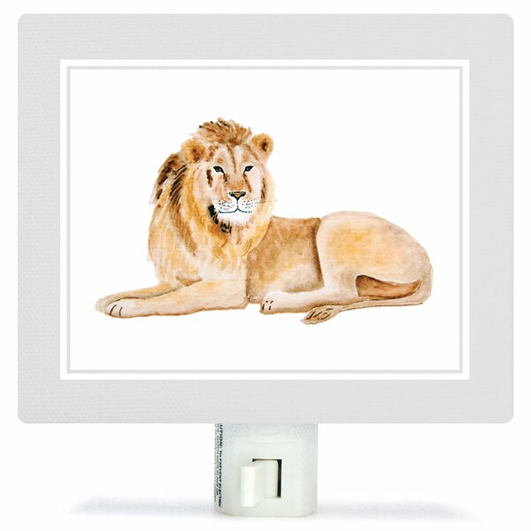Animal Kingdom - Lion by Brett Blumenthal Canvas Night Light by Oopsy Daisy
