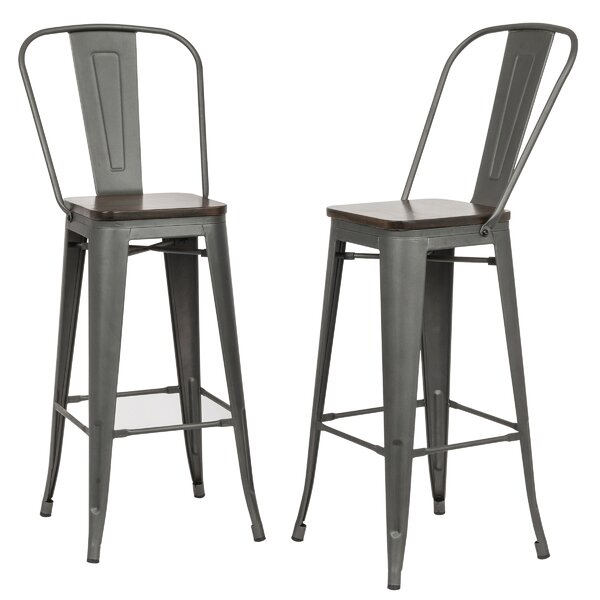 Beavers 30 Bar Stool (Set of 2) by Williston Forge