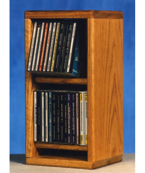 200 Series 28 CD Multimedia Tabletop Storage Rack by Wood Shed