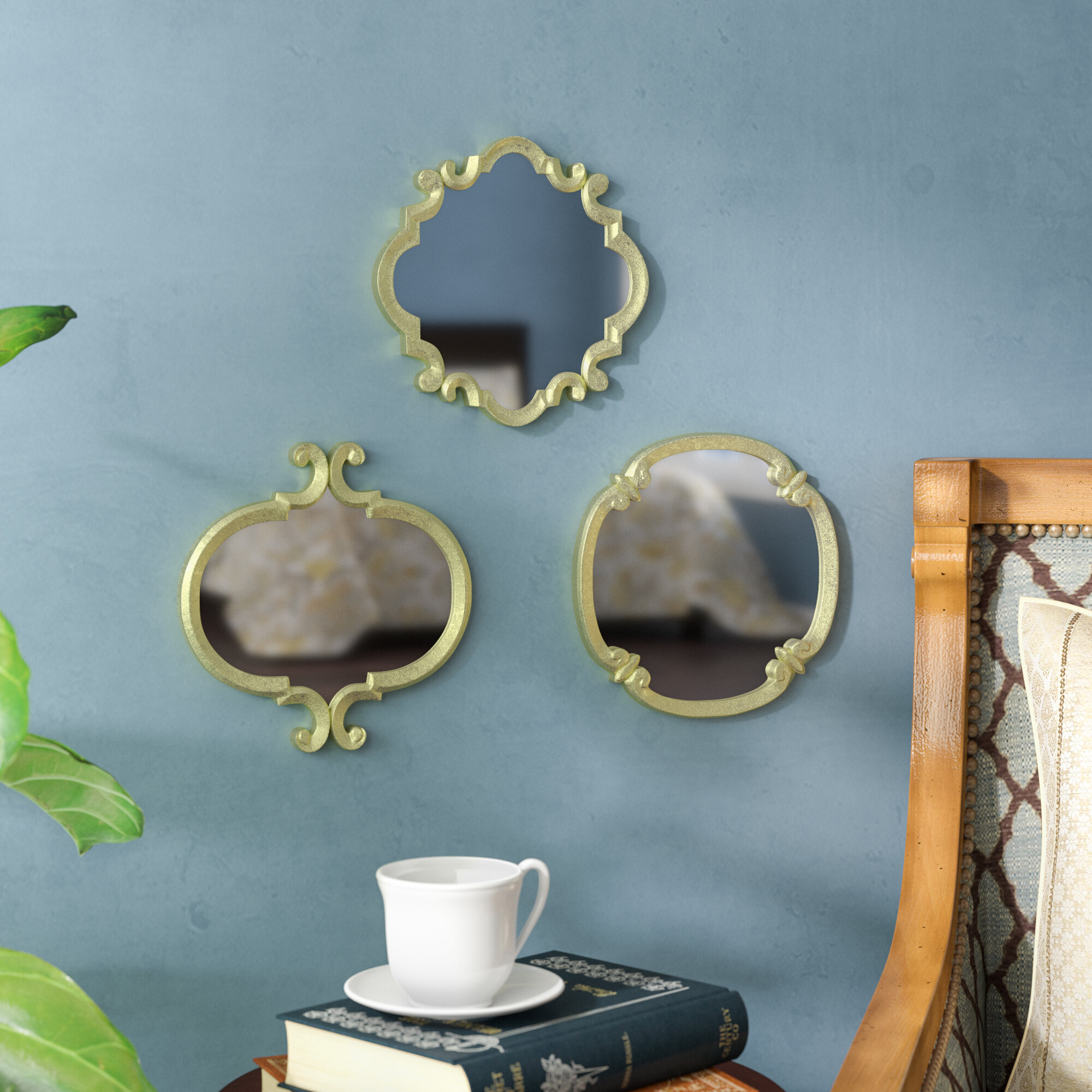 Astoria Grand 3 Piece Contemporary Meadow Wall Mirror Set Reviews