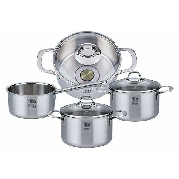 7 Piece Stainless Steel Induction Cookware Set by Westmark