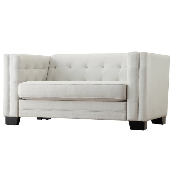 Rolland Tufted Upholstered Loveseat by Mercury Row