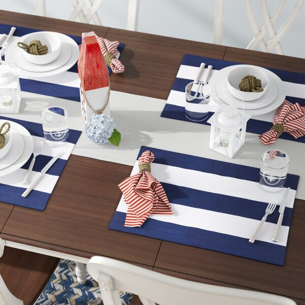 Devitt Striped Placemat (Set of 4) by Beachcrest Home