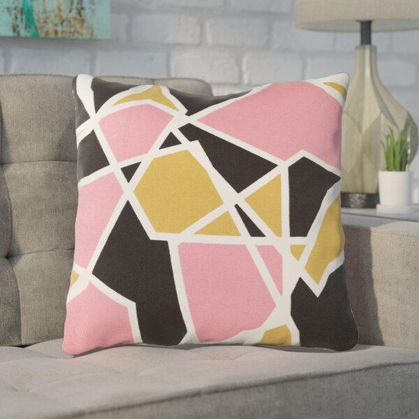 Carnes Cotton Throw Pillow by Mercury Row