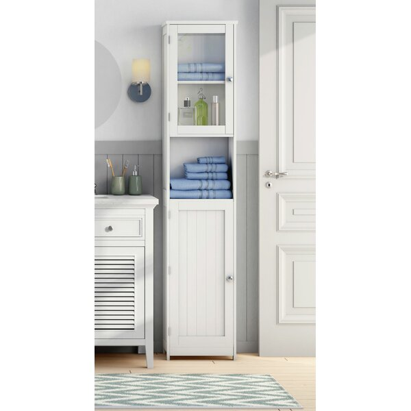 All Home 40 X 189cm Free Standing Tall Bathroom Cabinet