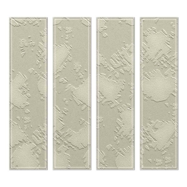 Crystal 3 x 12 Beveled Glass Subway Tile in Gray by Upscale Designs by EMA