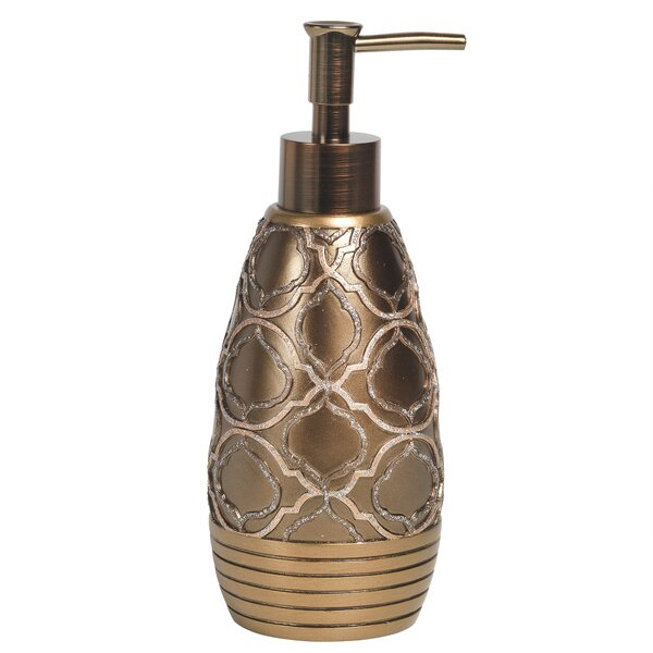 Medallion Soap/Lotion Dispenser by Sweet Home Collection