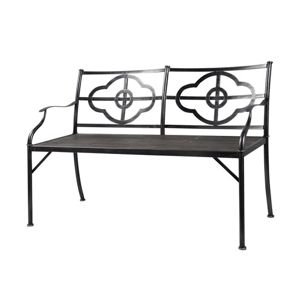 Phaedra Clover Wood/Metal Garden Bench by Gracie Oaks