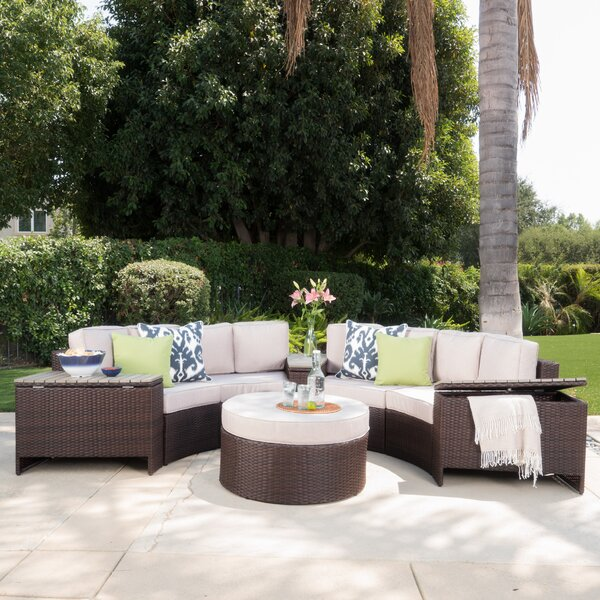 Daniela 8 Piece Sectional Set with Cushions by Latitude Run