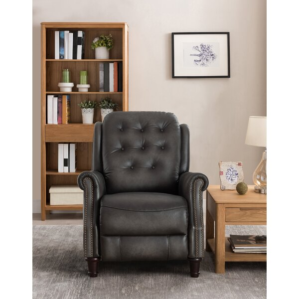 Parrish Leather Manual Recliner by Canora Grey