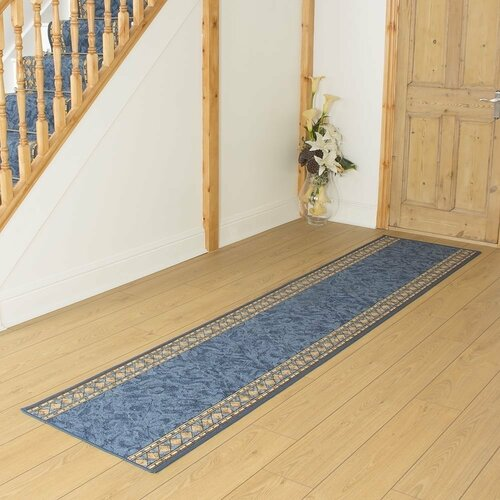 Cheops Looped/Hooked Blue Indoor/Outdoor Rug runrug Rug Size: Runner 330cm x 80cm