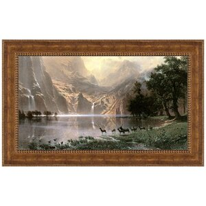 Among the Sierra Nevada, 1868 by Albert Bierstadt Framed Painting Print by Design Toscano
