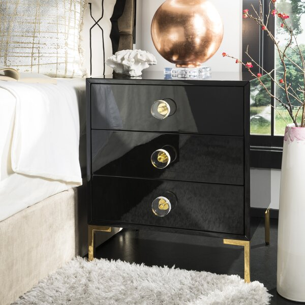 Neria 3 Drawer End Table By Everly Quinn