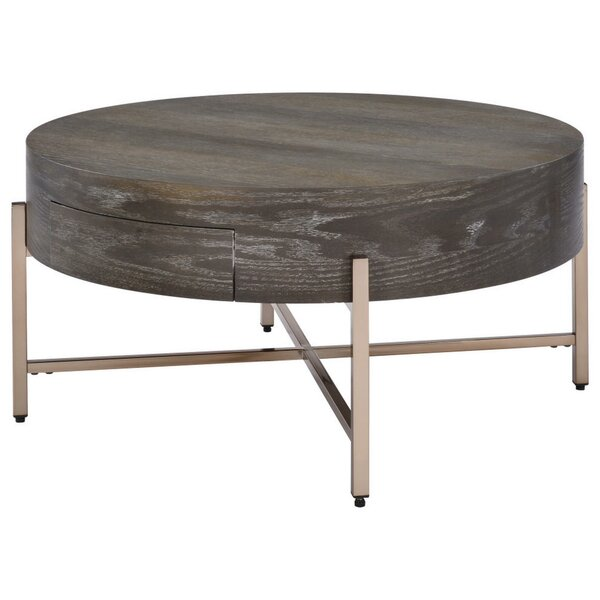 Olivette Cross Legs Coffee Table With Storage By Gracie Oaks