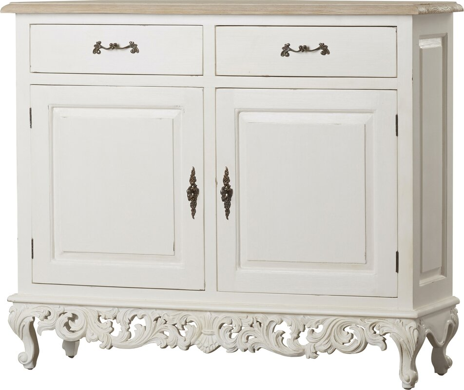 one allium way tangerine 2 door baroque accent cabinet