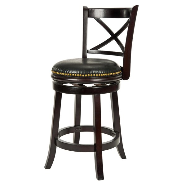 Bonenfant 24 Swivel Bar Stool by Andover Mills