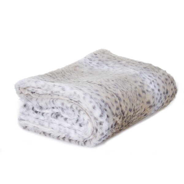 Aaryahi Leopard Faux Fur Throw Blanket by Willa Arlo Interiors