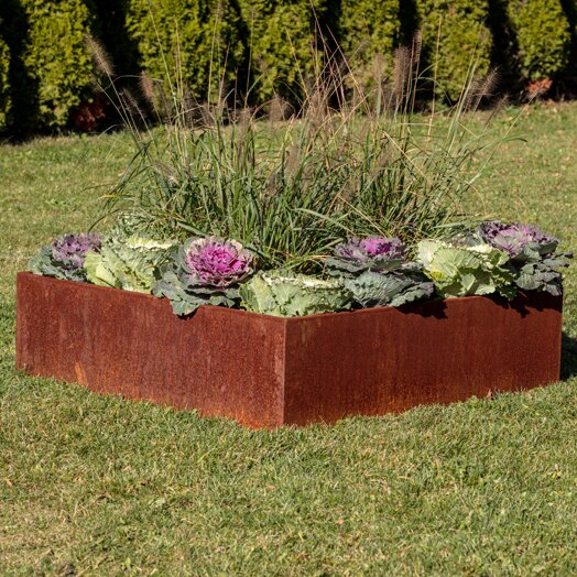 Metallic Series 4 ft x 4 ft Corten Steel Raised Garden by Veradek