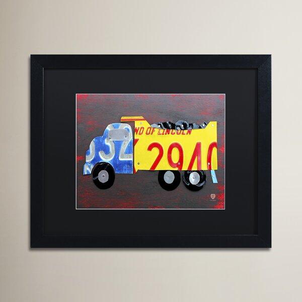 Lola Dump Truck by Design Turnpike Rectangle Framed Art by Zoomie Kids