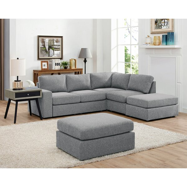Reversible Modular Sectional With Ottoman By Ebern Designs