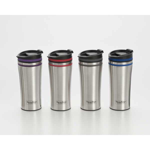 Double Walled Stainless Steel Coffee Tumbler with Silicone Rings by Cook Pro