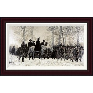 Washington Reviewing His Troops at Valley Forge, 1883 by William T. Trego Framed Painting Print by Global Gallery
