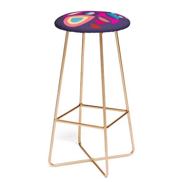 Viviana Gonzalez Geometric Colorplay 30 Bar Stool by East Urban Home