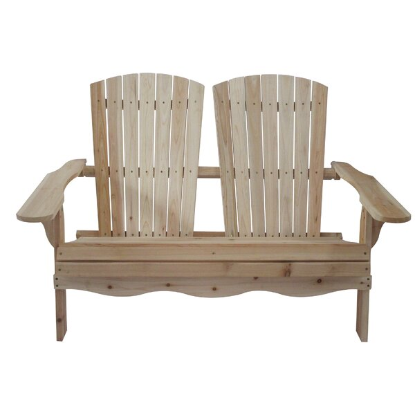 Folding Double Fir Wood Adirondack Bench by Stonegate Designs Furniture