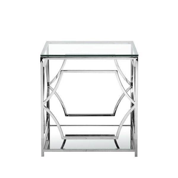 Edward Glass Top Frame End Table By Willa Arlo Interiors