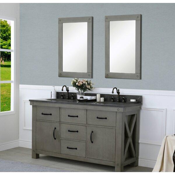 Cleora 60 Double Bathroom Vanity Set with Mirror by Williston Forge