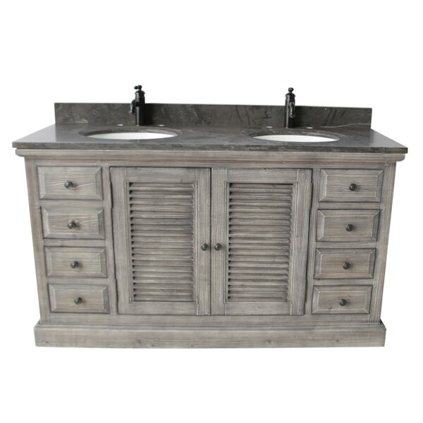 Quinlan 60 Double Bathroom Vanity Set by Rosecliff Heights
