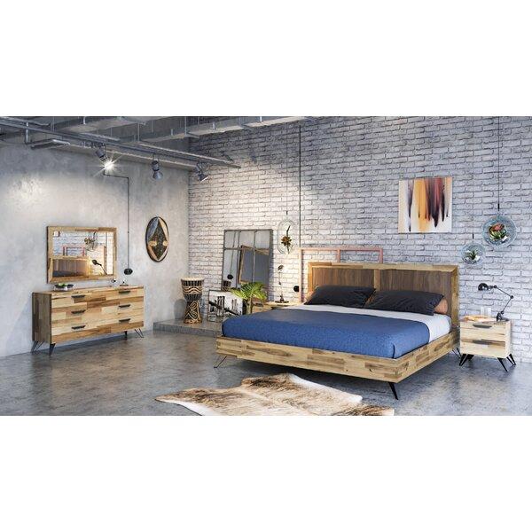 Sofia Light Wood Platform 5 Piece Bedroom Set by Union Rustic