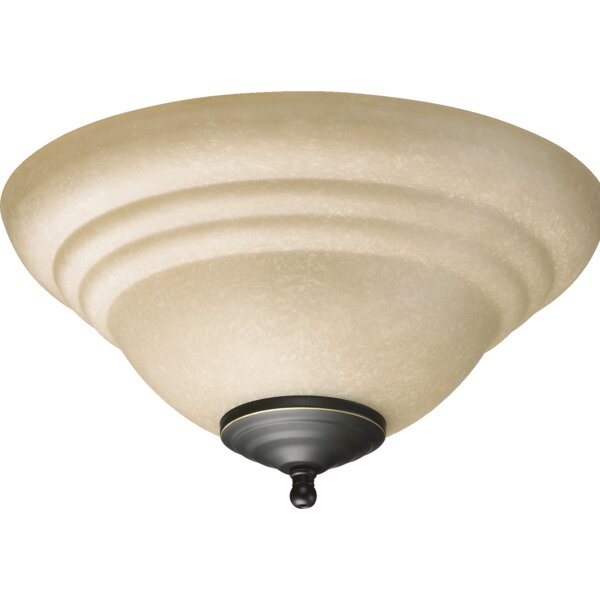 2-Light Bowl Ceiling Fan Light Kit by Quorum