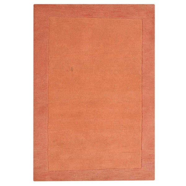 Creager Hand-Tufted Wool Orange Area Rug by Ebern Designs