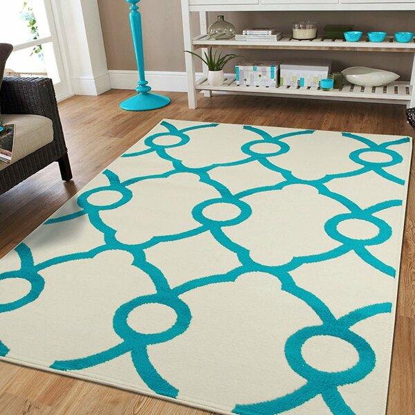 Yablonski Ivory Indoor/Outdoor Area Rug by Ebern Designs