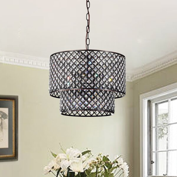 Clemence 8-Light Unique / Statement Tiered Chandelier by House of Hampton House of Hampton