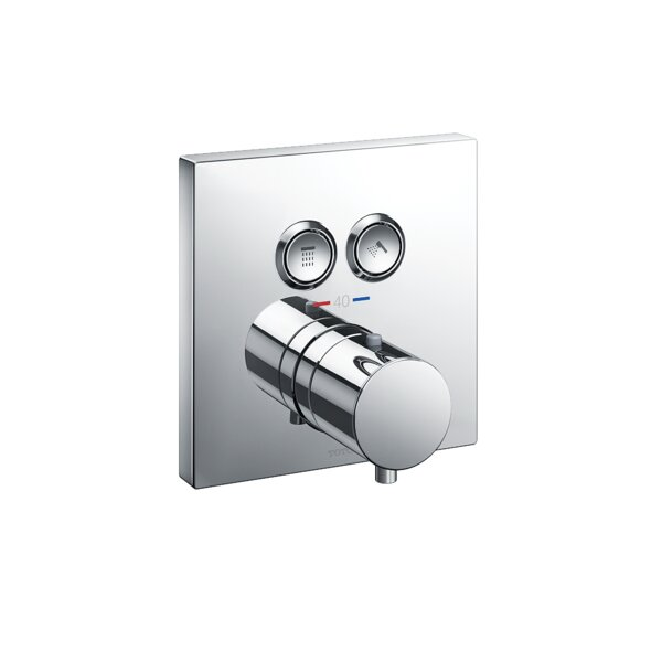 Square Thermostatic Mixing Valve with 2-Function Shower Trim by Toto
