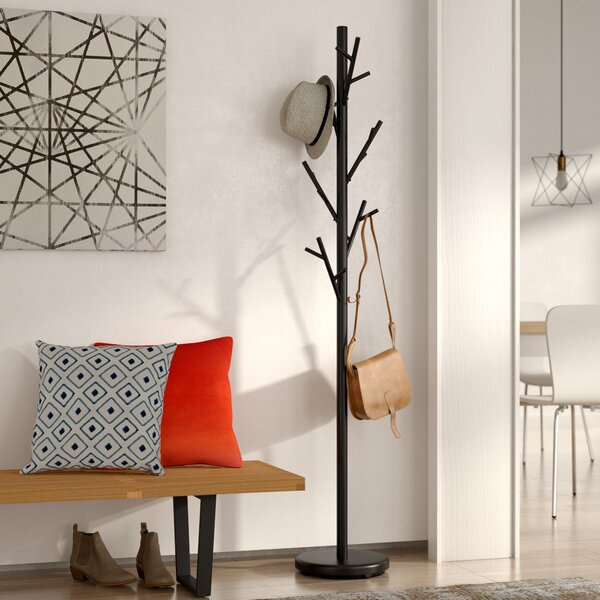 Freestanding Black Coat Rack by Mercury Row