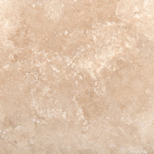 Travertine 18 x 18 Filled and Honed Field Tile in Ivory Classic by Emser Tile