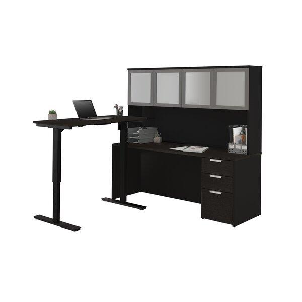 Kadian Reversible L-Shape Corner Desk with Hutch