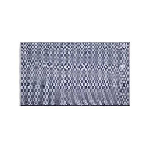 Mcgreevy Hand-Woven Cotton Blue Area Rug by Wrought Studio