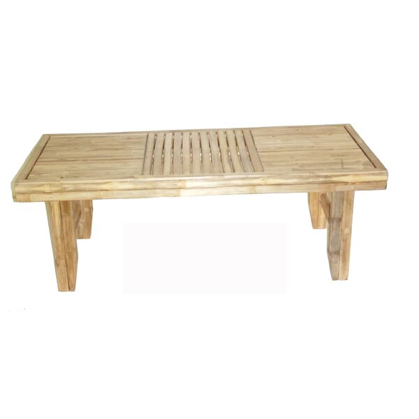 Duggins Folding Wooden Coffee Table by Highland Dunes