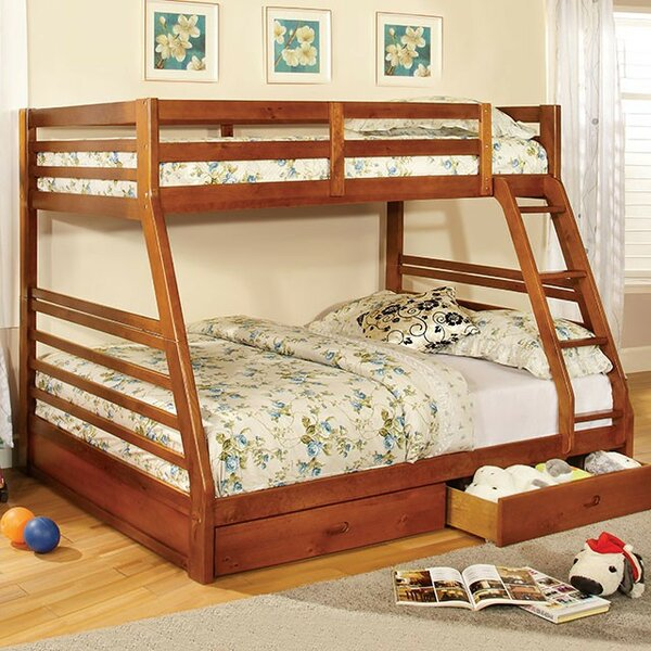 Flower Twin over Full Bunk Bed with Drawers by Harriet Bee
