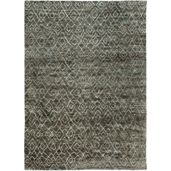 Albert Hand-Knotted Forest/Olive Area Rug by Williston Forge