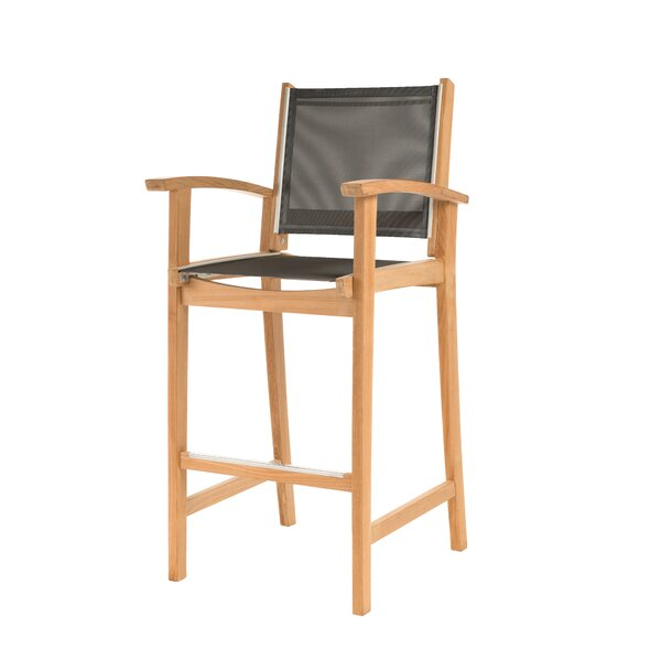 Earls 30 Teak Patio Bar Stool by Rosecliff Heights