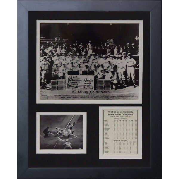 1934 St. Louis Cardinals Posed Framed Memorabilia by Legends Never Die